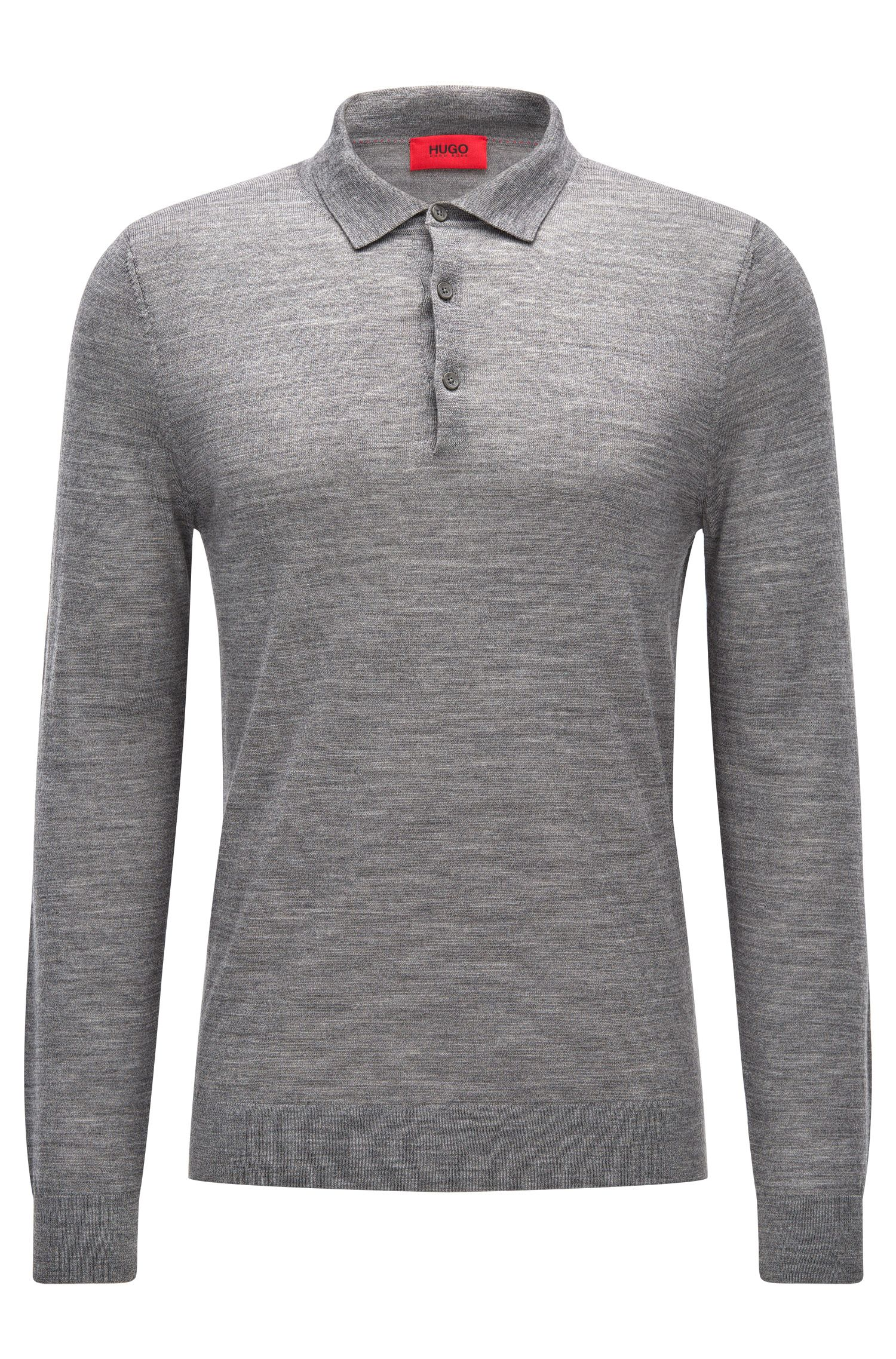 Slim-fit polo-neck sweater in a Merino wool blend