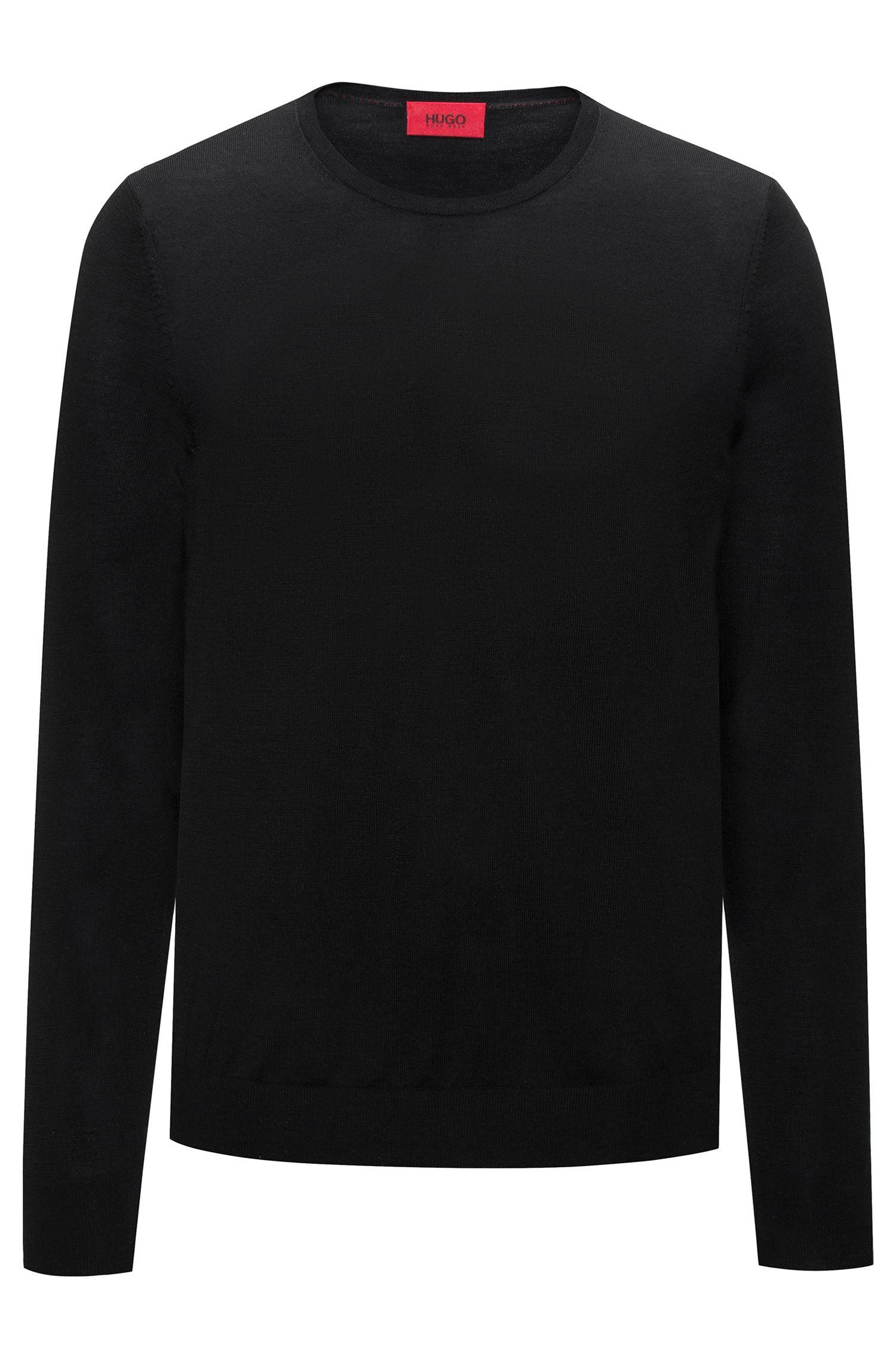 Crew-neck sweater in a lightweight merino wool blend