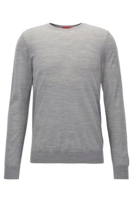 Buy Cheap Low Cost Crew-neck sweater in lightweight merino wool piqué BOSS Sale Really Clearance Collections Discount Geniue Stockist zWh5LwwLT