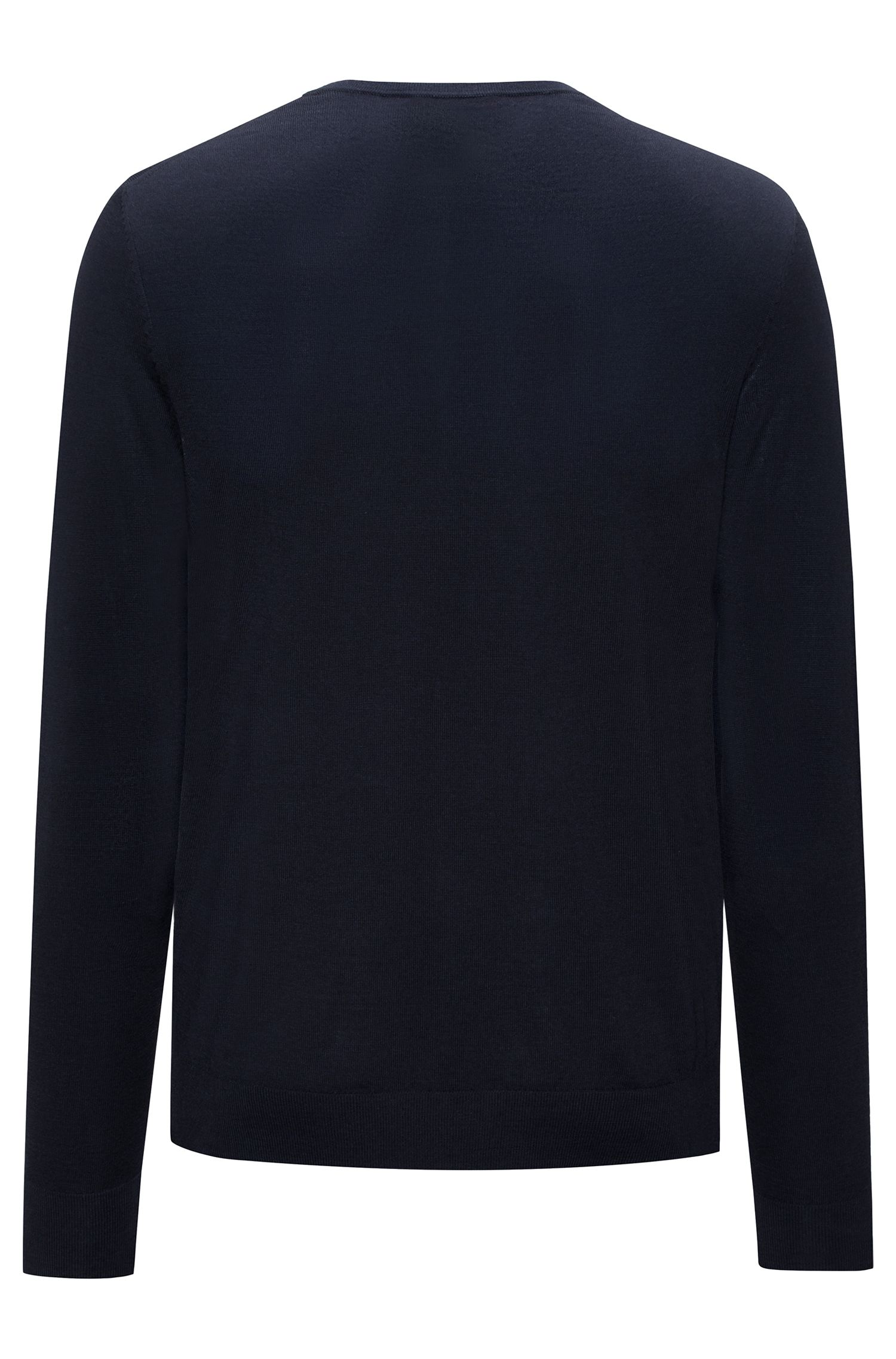 Crew-neck sweater in a lightweight merino wool blend
