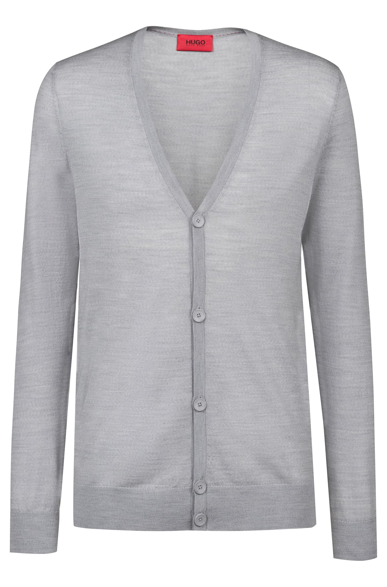 Slim-Fit Cardigan aus Schurwoll-Mix