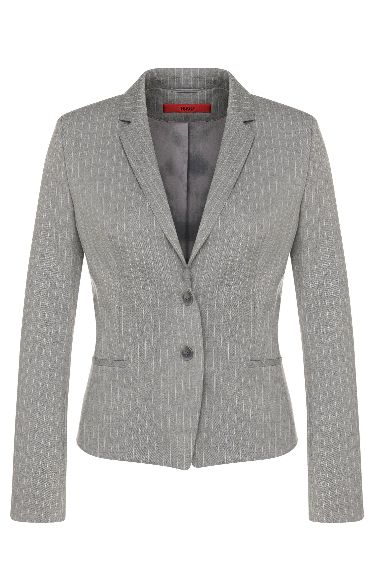 Getailleerde blazer met krijtstreepdessin: 'Afrona'