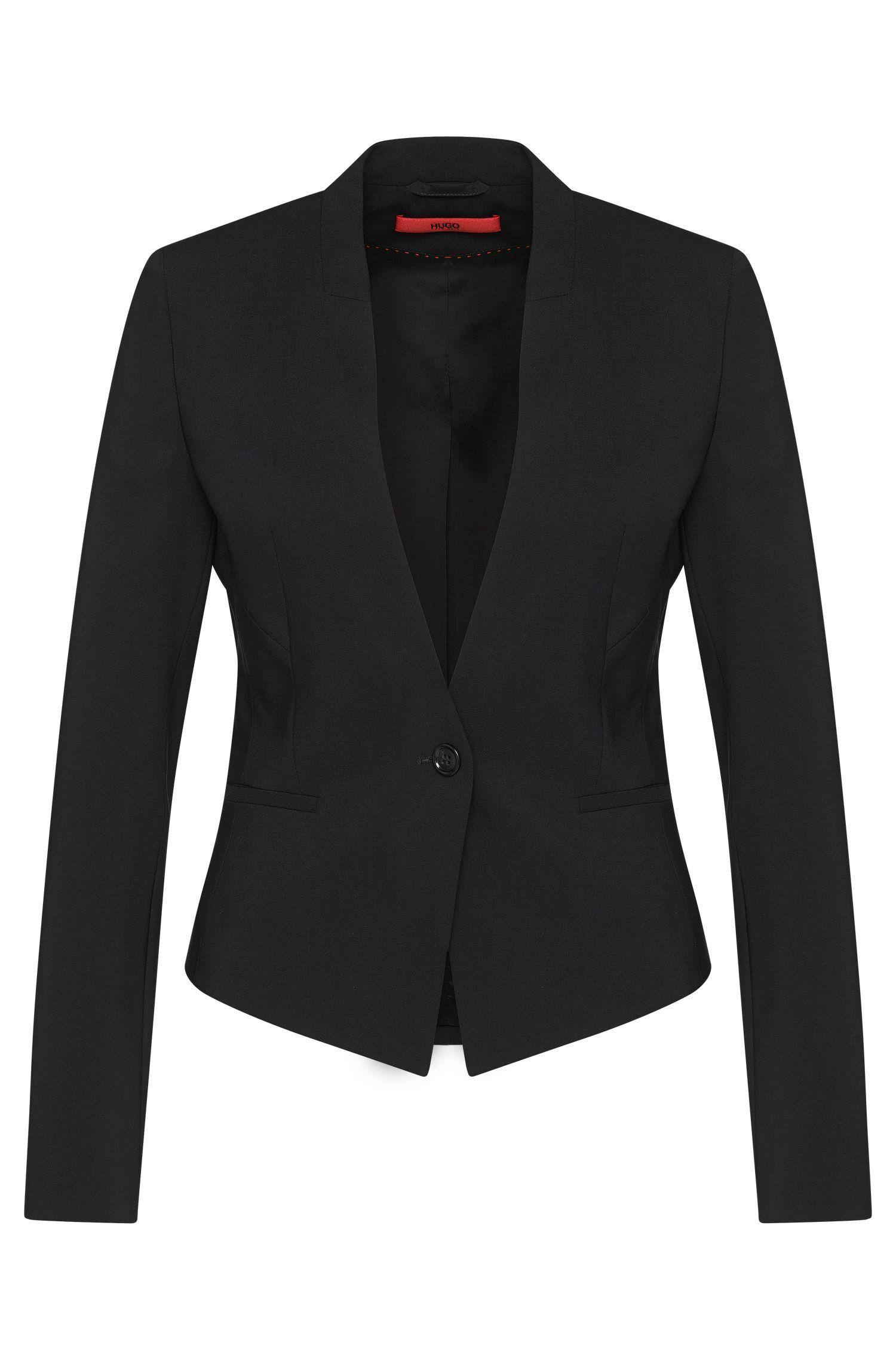 Fitted short blazer in stretch new wool: 'Axelly'