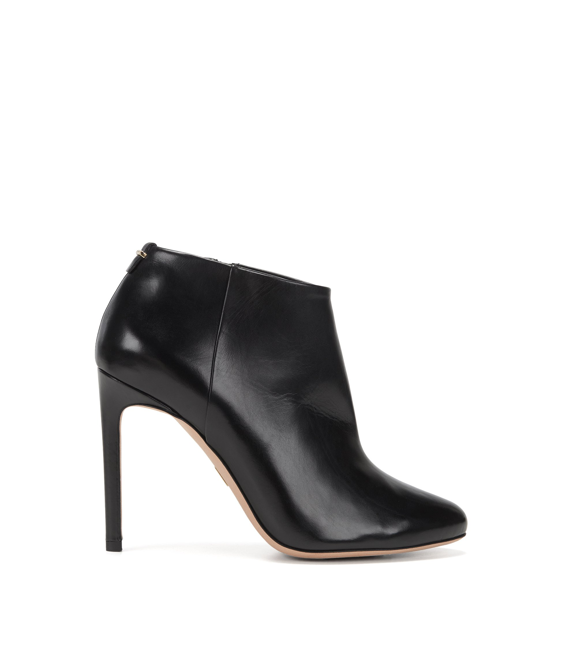 Bottines BOSS Luxury Staple en cuir italien, Noir