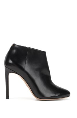 BOSS Luxury Staple boots in Italian leather, Black