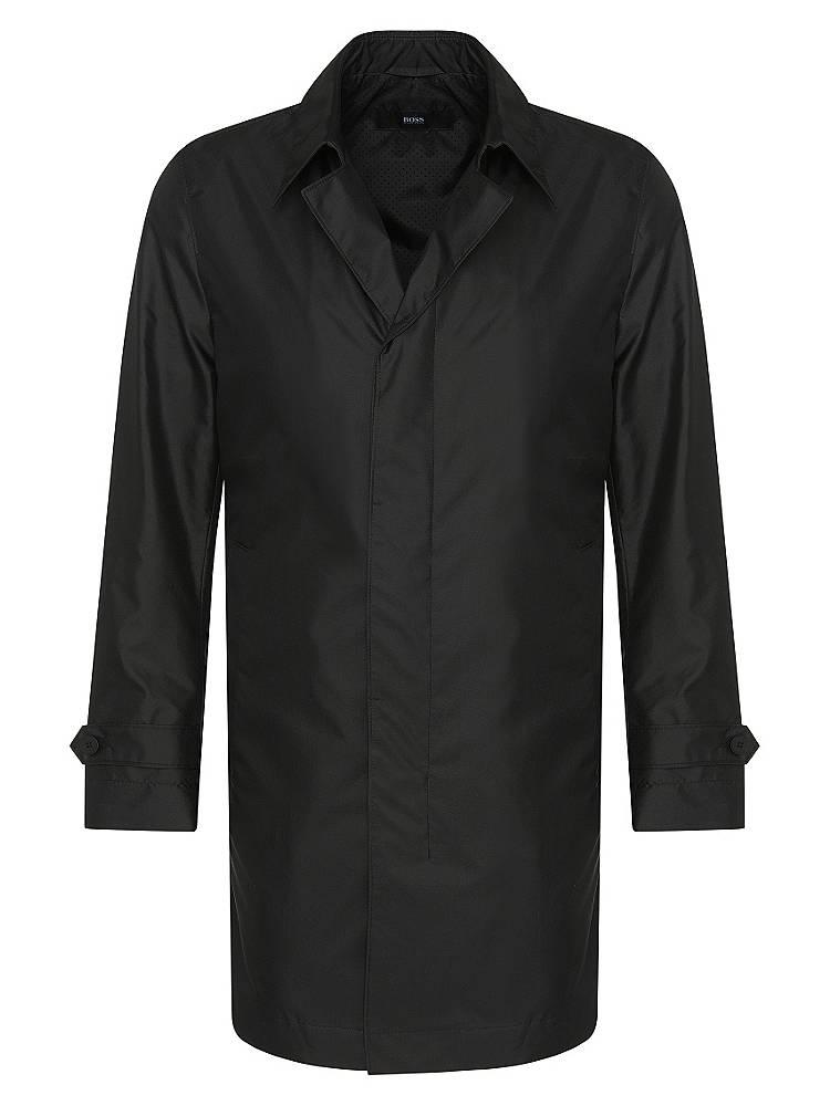 hugo boss mantel aus wasserabweisendendem gewebe mit seide garret1 g nstig schnell einkaufen. Black Bedroom Furniture Sets. Home Design Ideas