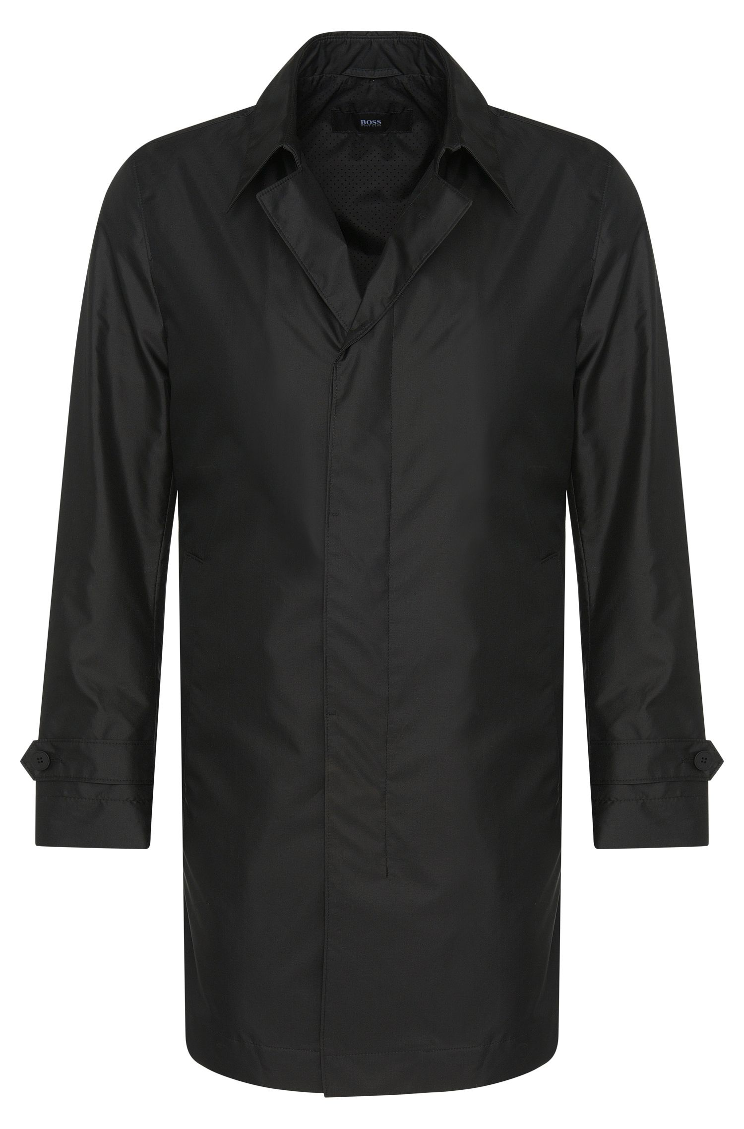 Coat in water-repellent fabric with a silk percentage: 'Garret1'