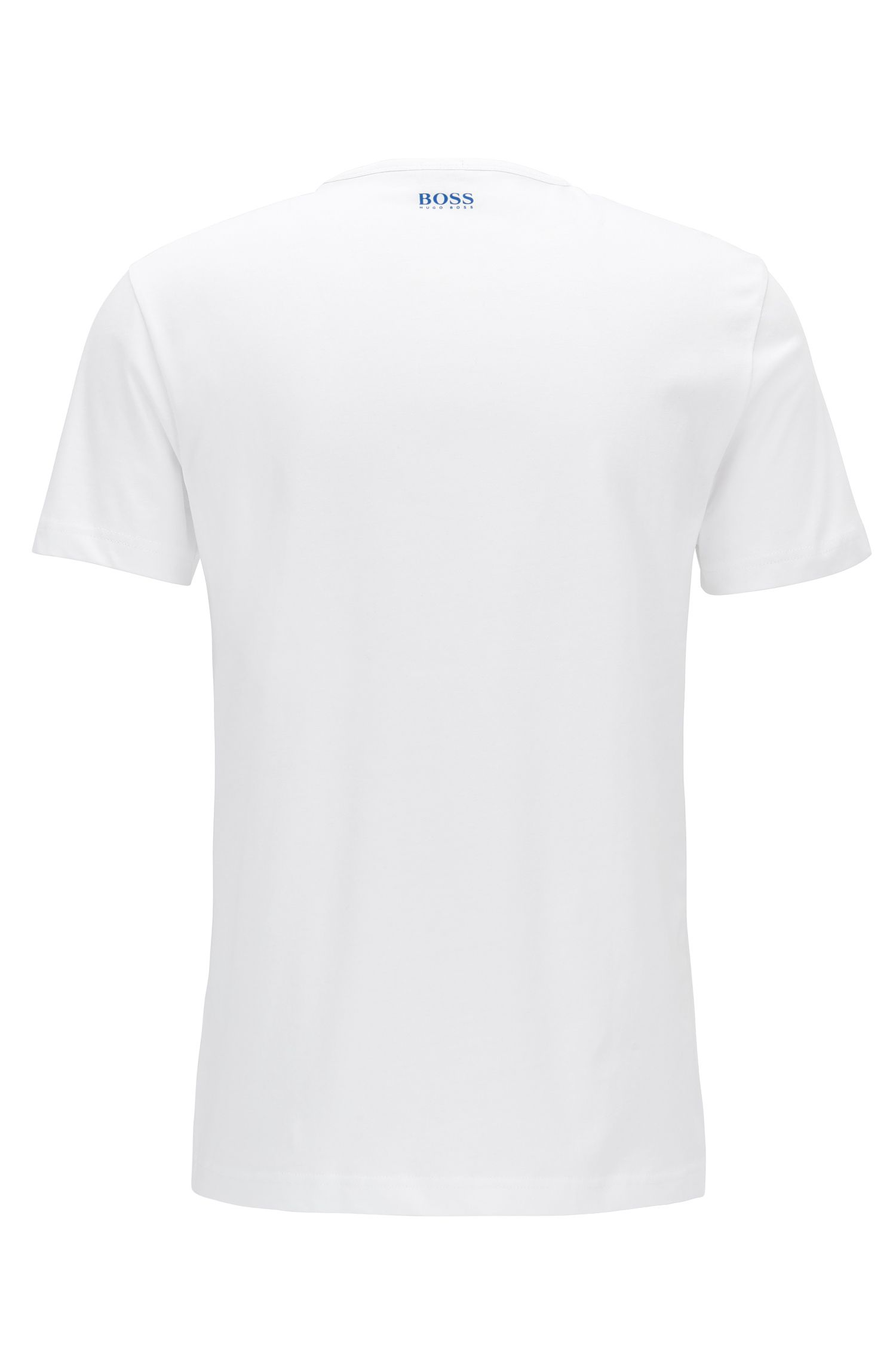 Regular-fit logo T-shirt in cotton jersey