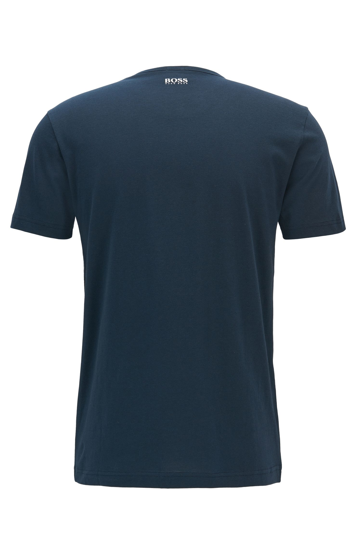 T-shirt logo Regular Fit en jersey de coton
