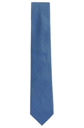 Stropdas van zijde met dessin: 'Tie 7,5 cm', Lichtblauw