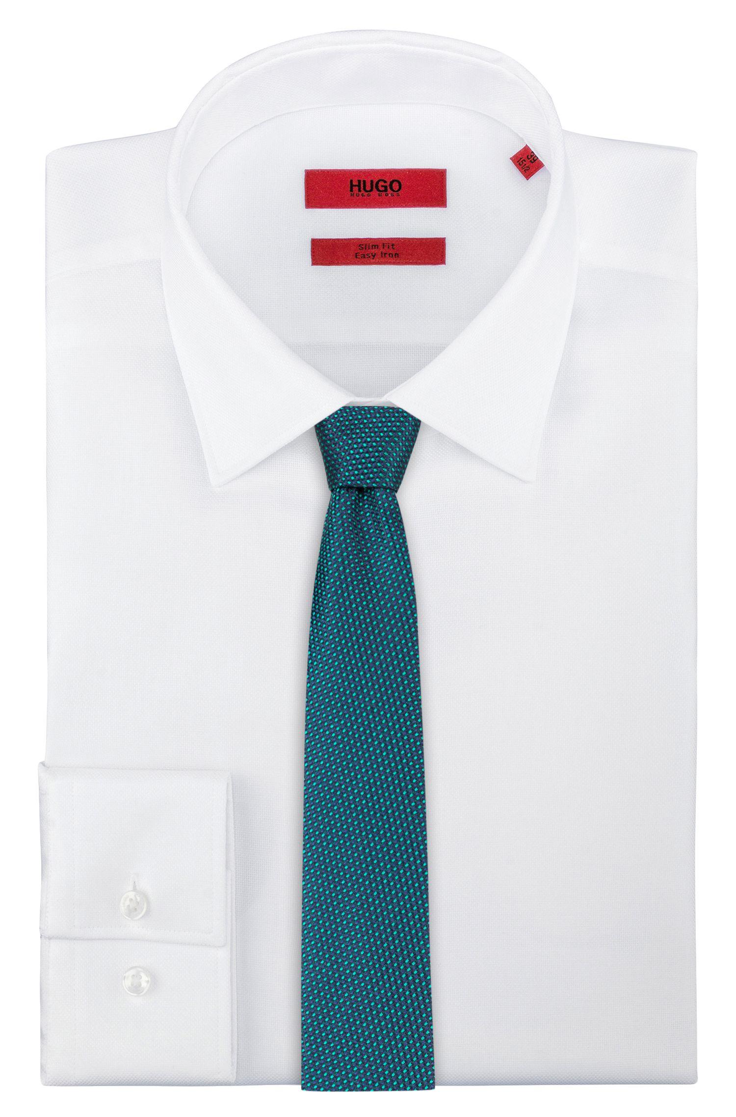 Cravate en jacquard de soie à micromotif, Vert