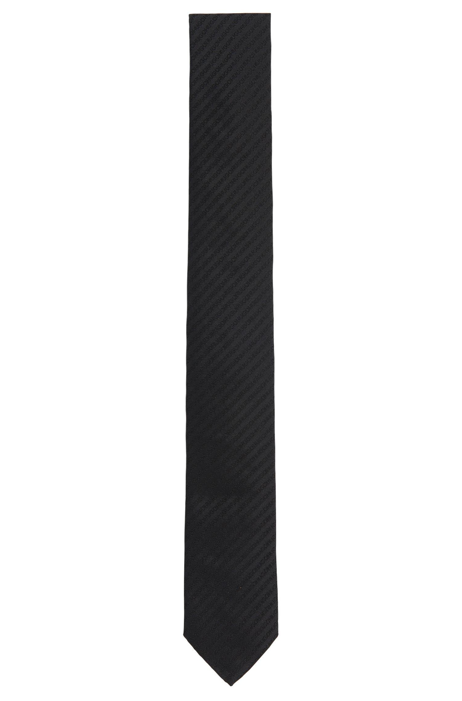 Zijden stropdas met logostiksels: 'Tie cm 6'