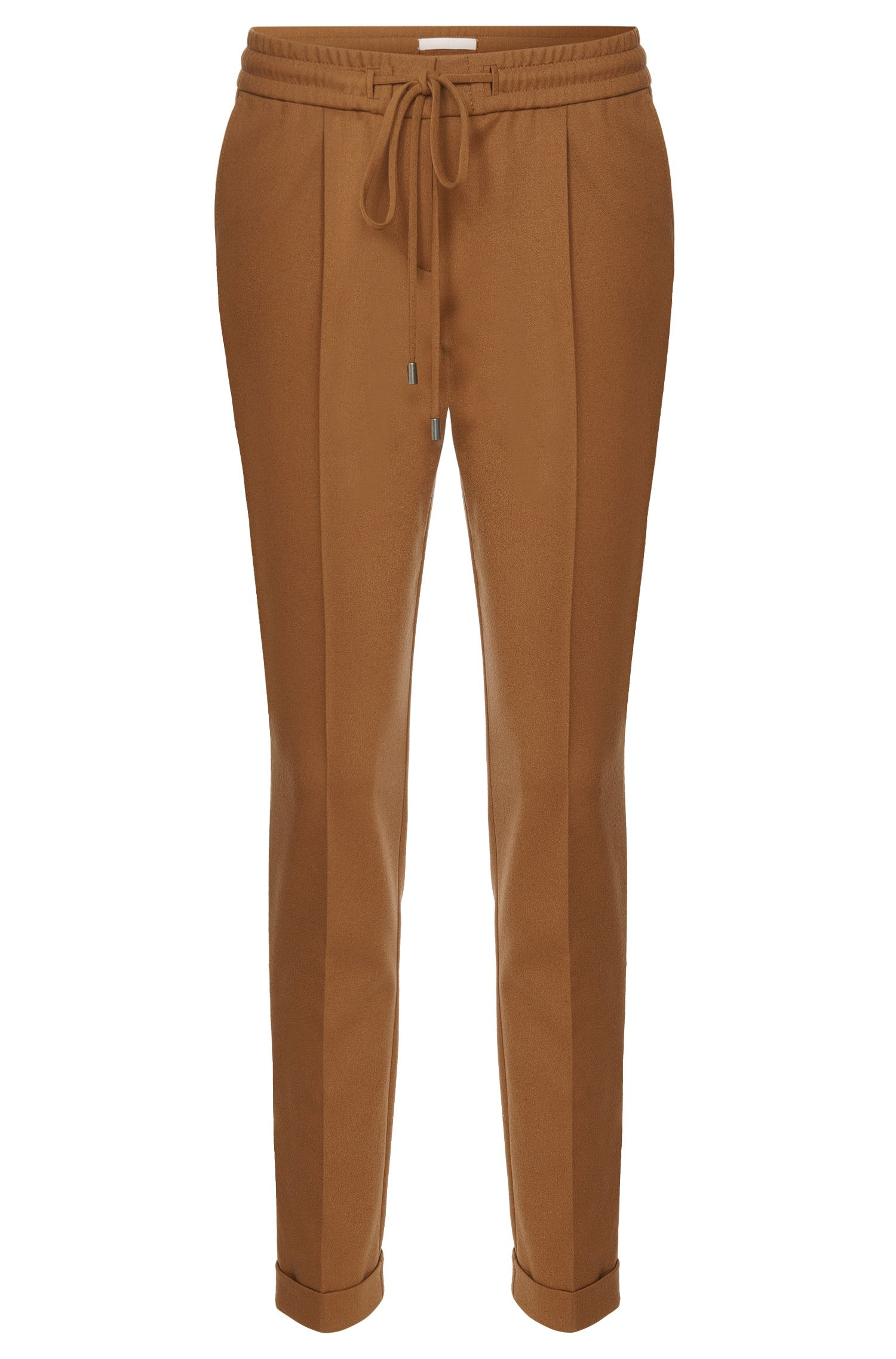 Relaxed-Fit Hose aus Stretch-Schurwolle in Cropped-Länge: 'Ariyana8'
