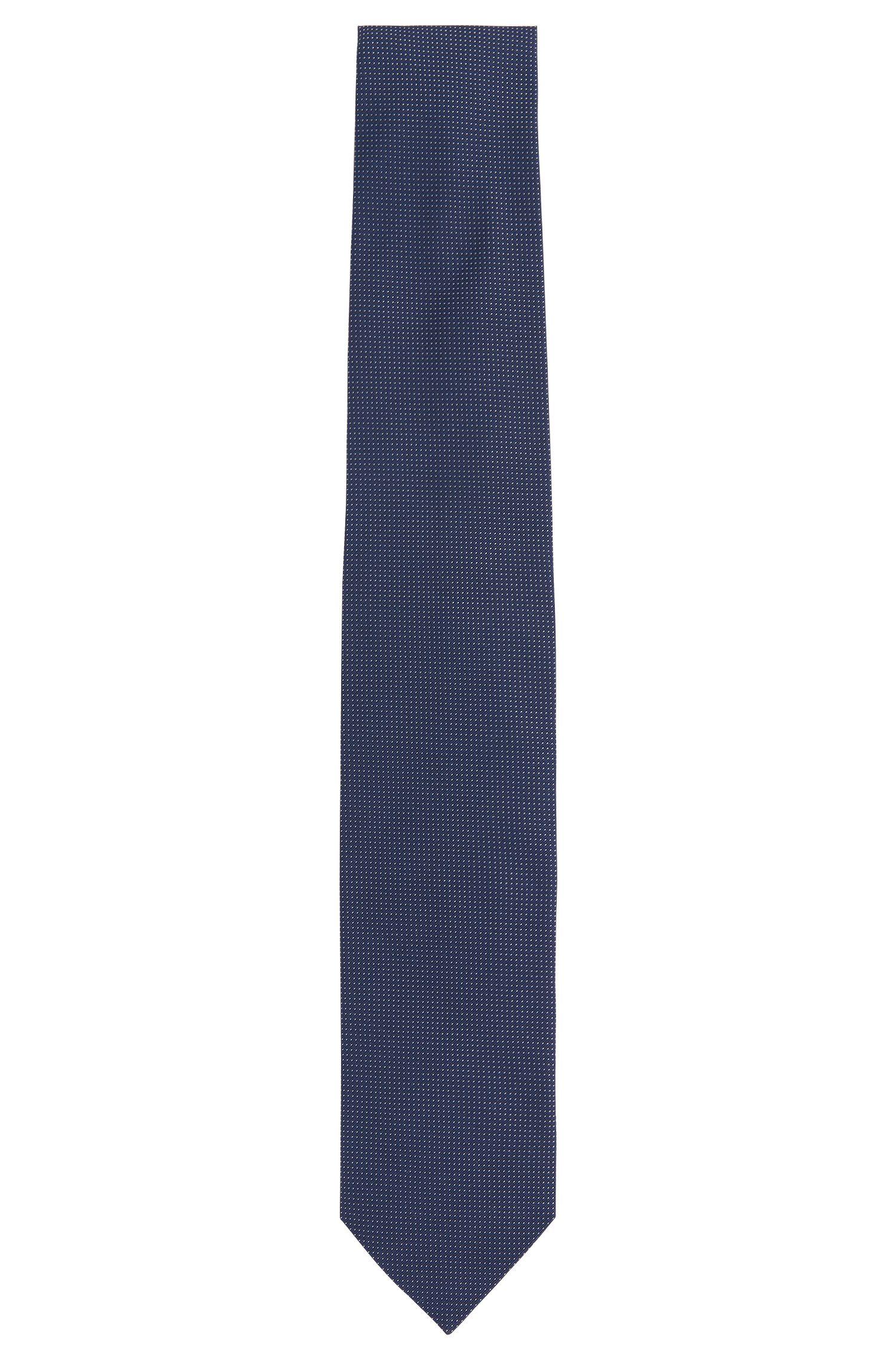 Silk tie with pattern: 'Tie cm 7'