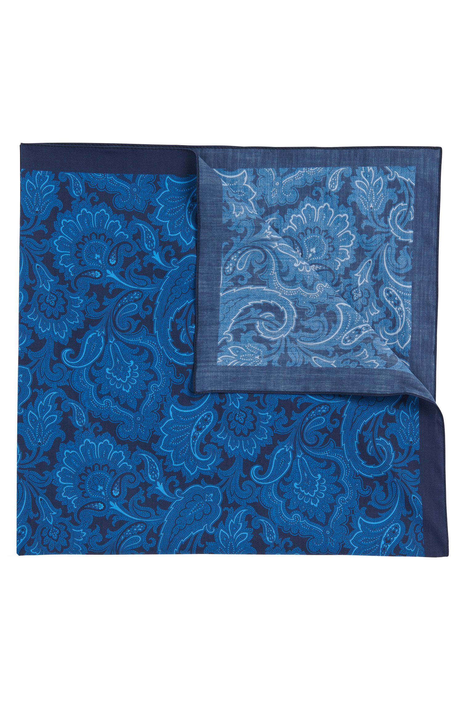 Pañuelo de algodón con diseño Paisley: 'Bandana cm 60x60'