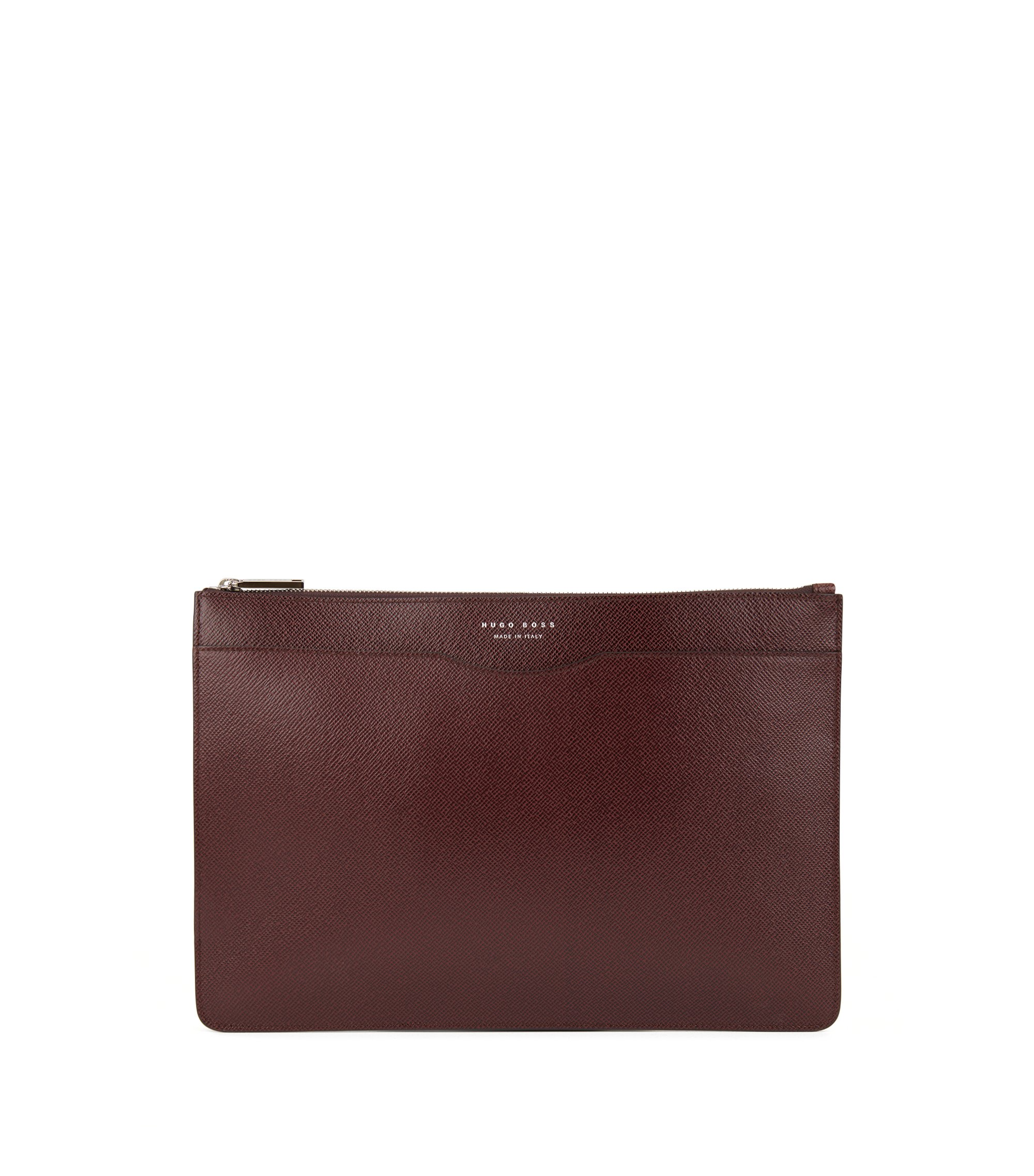 Porte-document Signature Collection en cuir palmellato, Rouge sombre