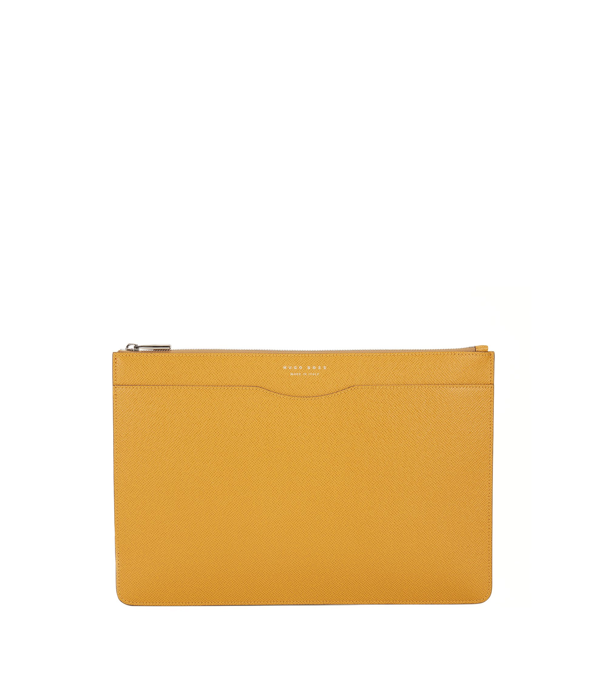 Signature Collection document case in palmellato leather, Yellow