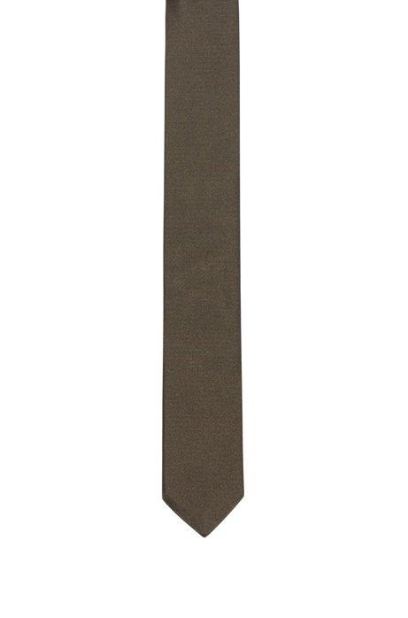 Krawatte aus reinem Seiden-Twill , Khaki