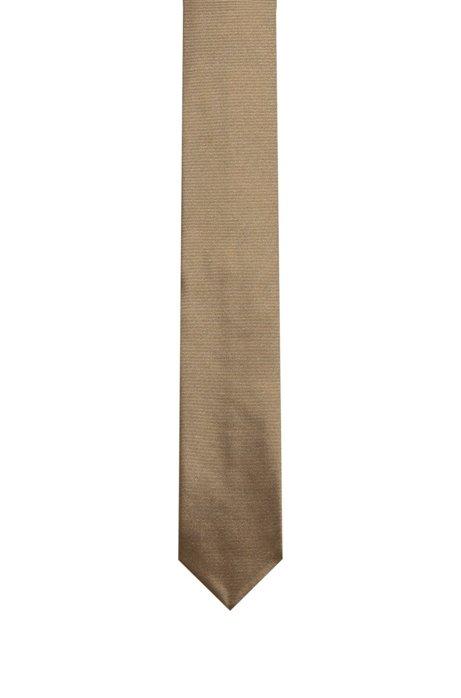 Krawatte aus reinem Seiden-Twill , Beige