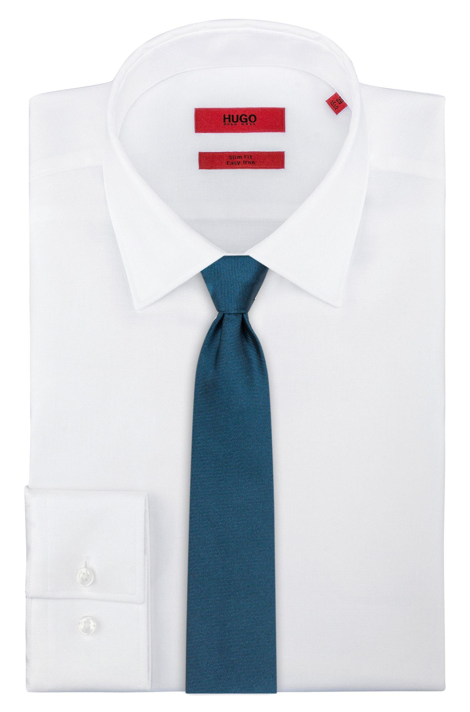 Cravate en sergé en pure soie , Vert sombre