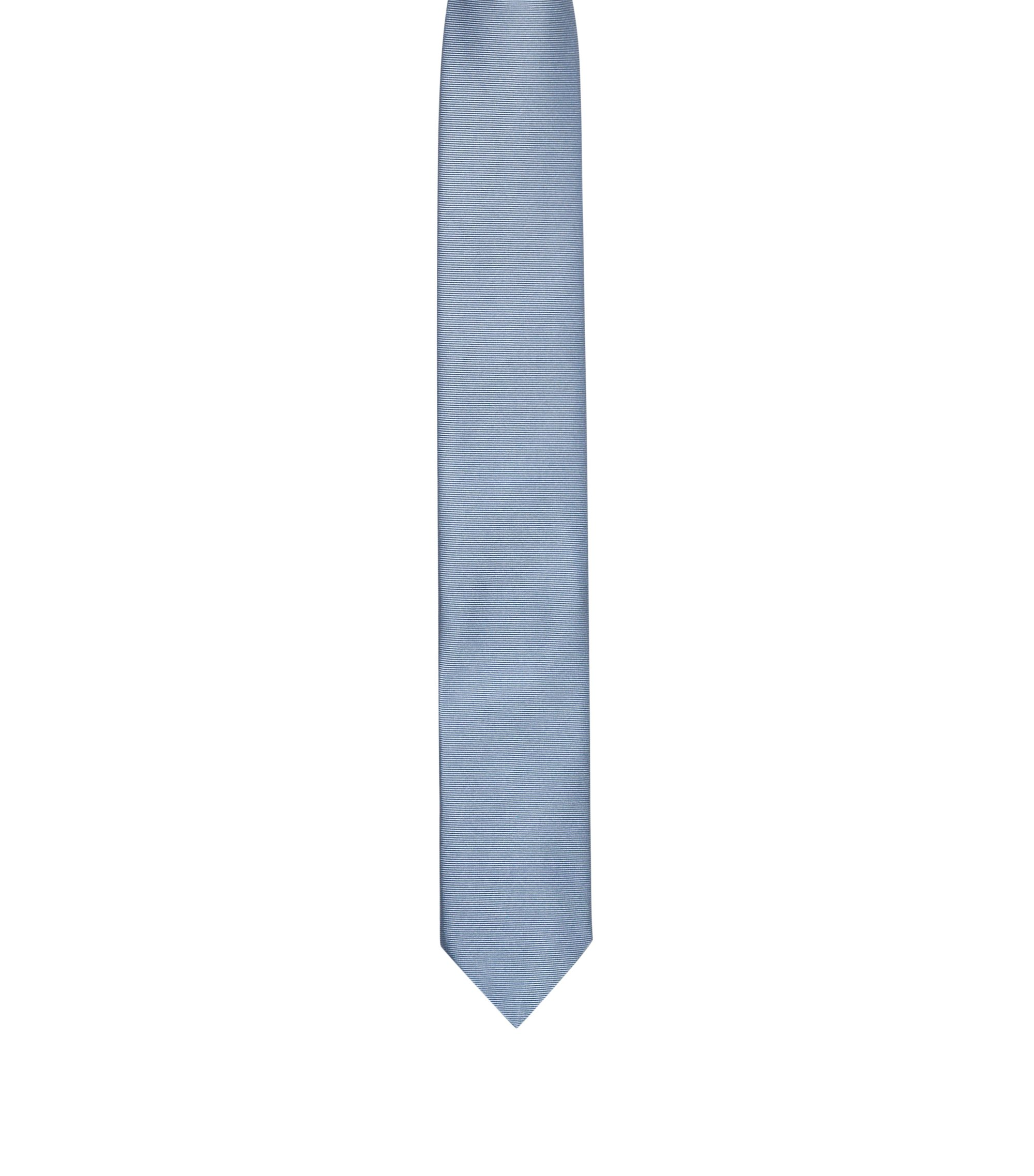 Stropdas van zuivere zijde met keperpatroon , Lichtblauw