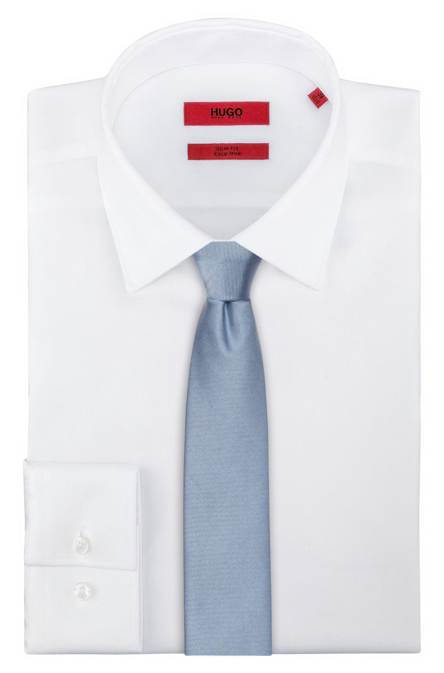 Twill-Krawatte aus reiner Seide , Hellblau