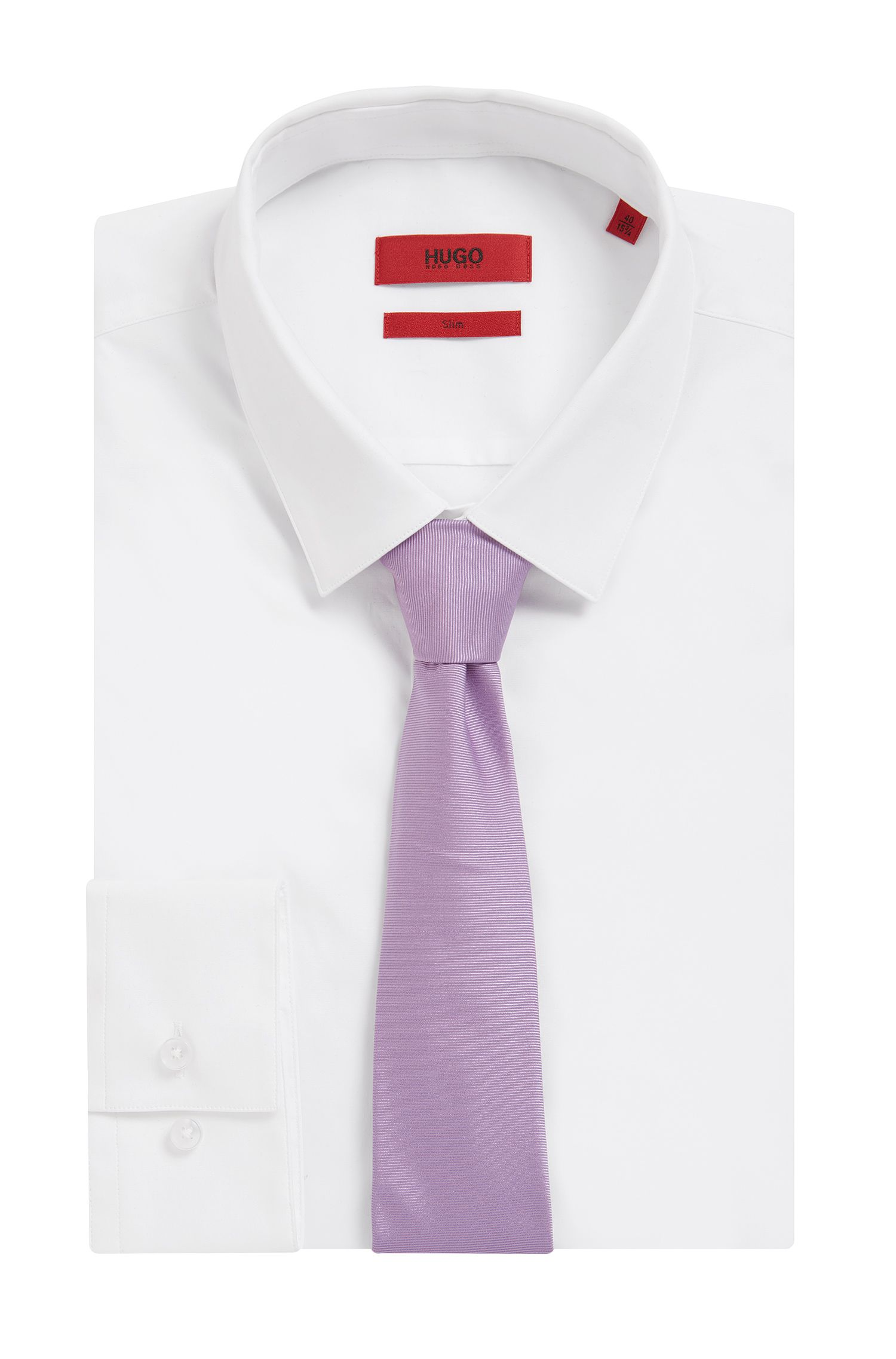 Twill tie in pure silk , Light Purple