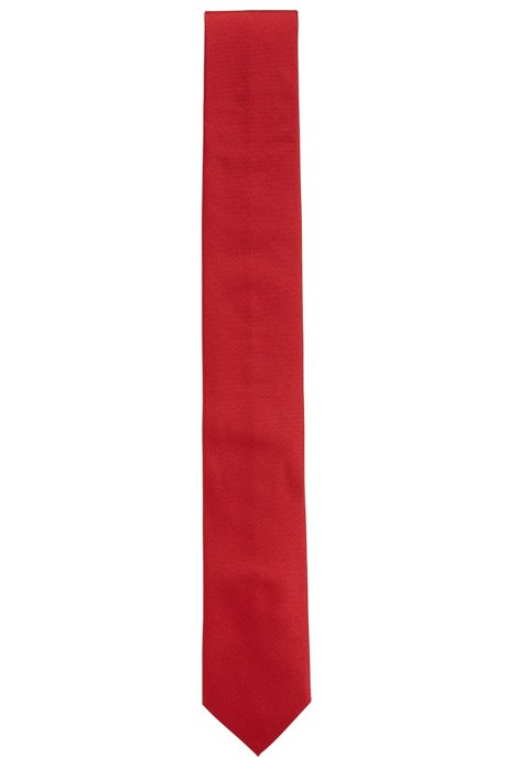Corbata de sarga en seda pura , Rojo