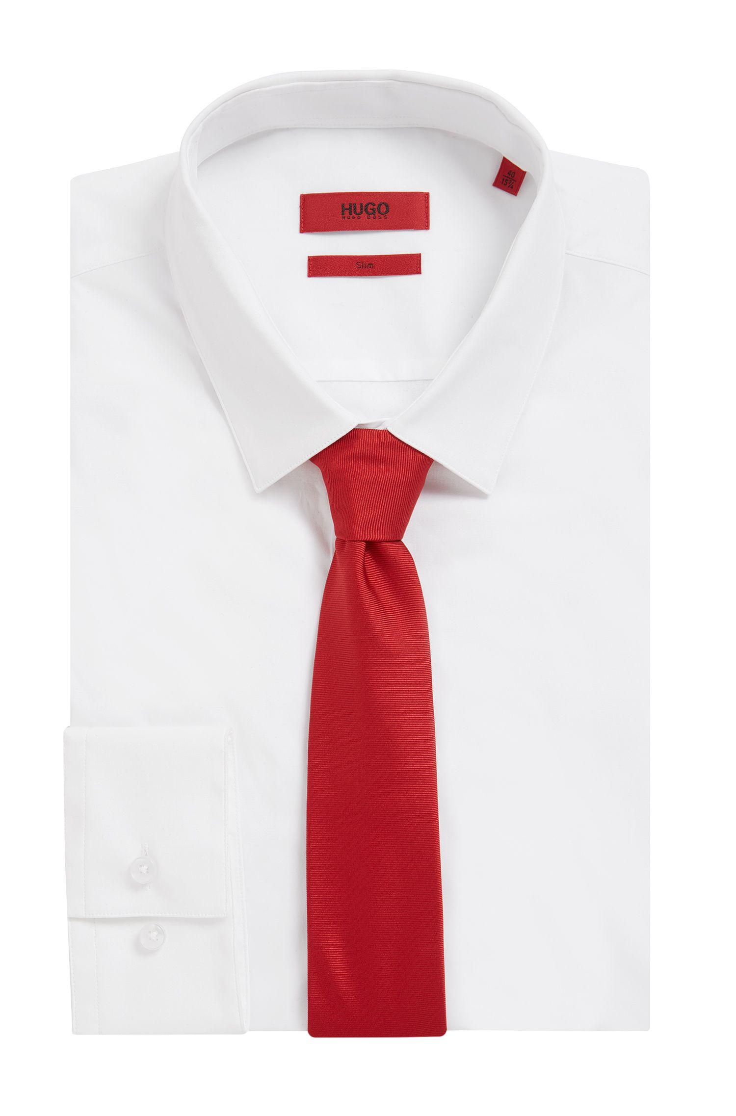 Cravate en sergé en pure soie , Rouge