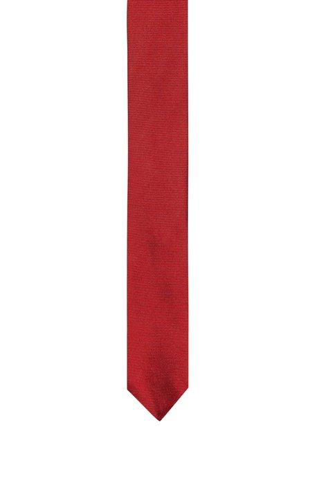 Twill tie in pure silk , Red