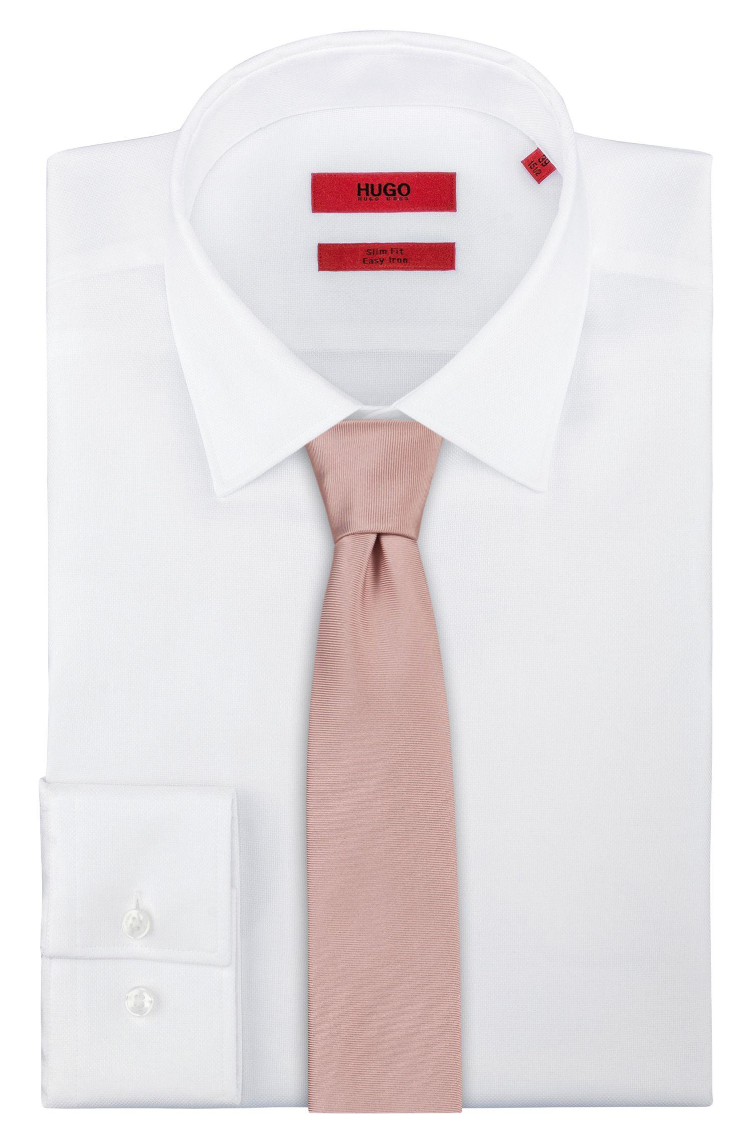 Corbata de sarga en pura seda , Rosa claro