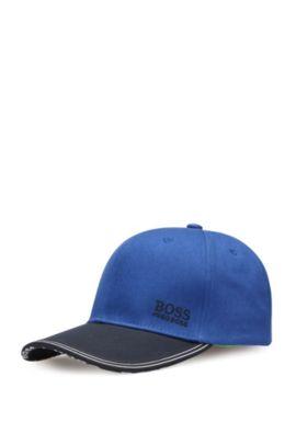 2-tone baseball cap in cotton: 'Cap 13', Open Blue