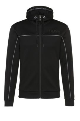 Blouson sweat Regular Fit en coton mélangé : « Saggy », Noir