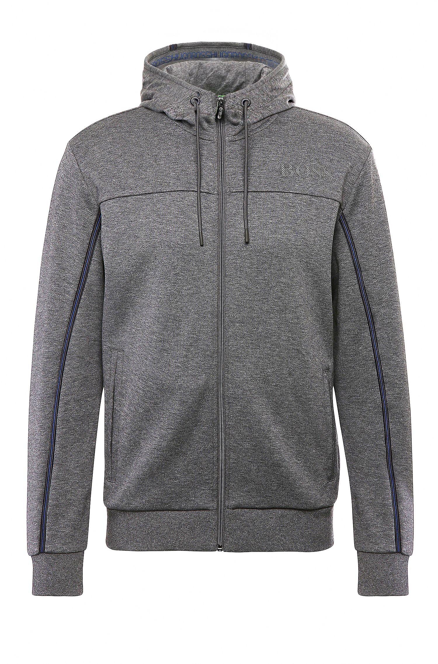 Regular-fit sweatshirt jacket in a cotton blend: 'Saggy'