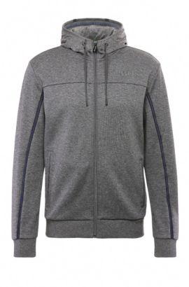Regular-fit sweatshirt jacket in a cotton blend: 'Saggy', Grey