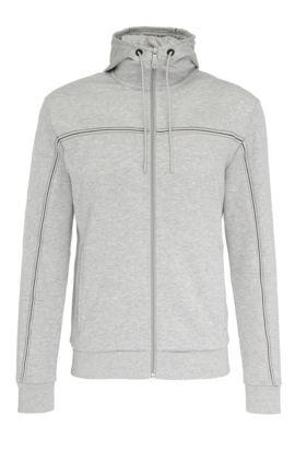 Regular-Fit Sweatshirt-Jacke aus Baumwoll-Mix: ´Saggy`, Hellgrau