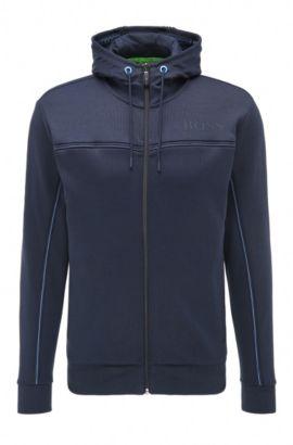 Regular-Fit Sweatshirt-Jacke aus Baumwoll-Mix: ´Saggy`, Dunkelblau