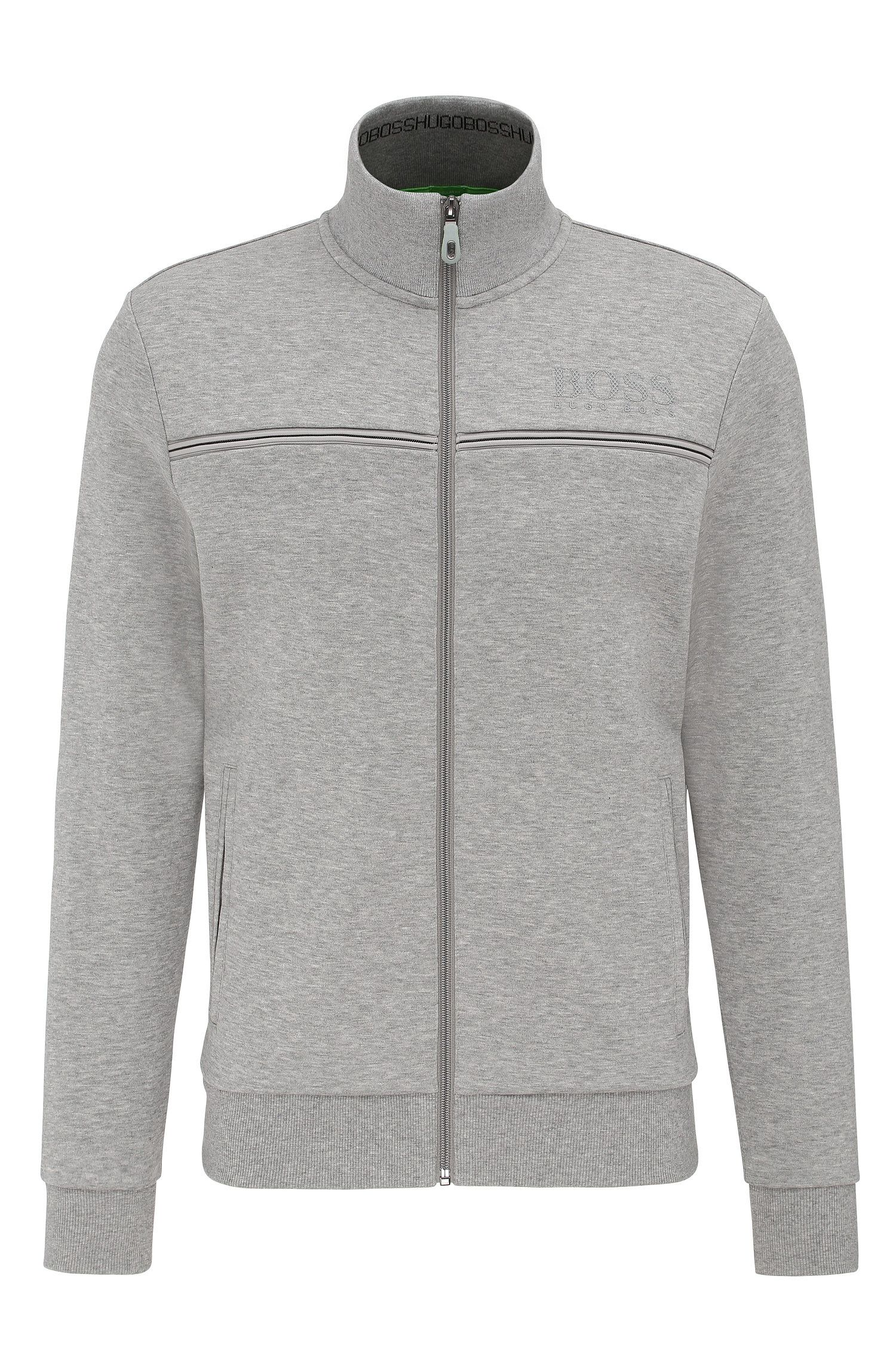 Regular-Fit Sweatshirt-Jacke aus Baumwoll-Mix: ´Skaz`