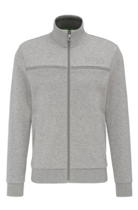 Regular-Fit Sweatshirt-Jacke aus Baumwoll-Mix: ´Skaz`, Hellgrau
