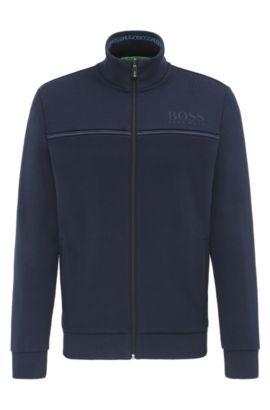 Regular-fit sweatjas van een katoenmix: 'Skaz', Donkerblauw