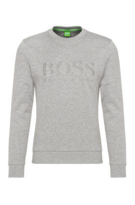 Slim-Fit Sweatshirt aus Baumwoll-Mix: ´Salbo`, Hellgrau