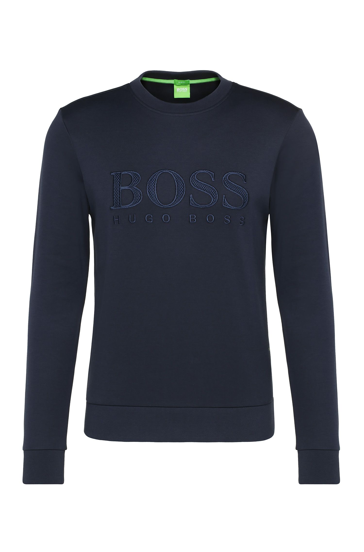 Slim-Fit Sweatshirt aus Baumwoll-Mix: ´Salbo`