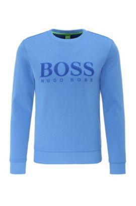 Slim-fit sweatshirt van een katoenmix: 'Salbo', Blauw