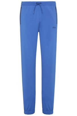 Relaxed-fit joggers in stretch fabric blend: 'Horatech', Open Blue