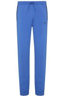 Pantalon de jogging Relaxed Fit en coton mélangé extensible: «Horatech», Bleu vif
