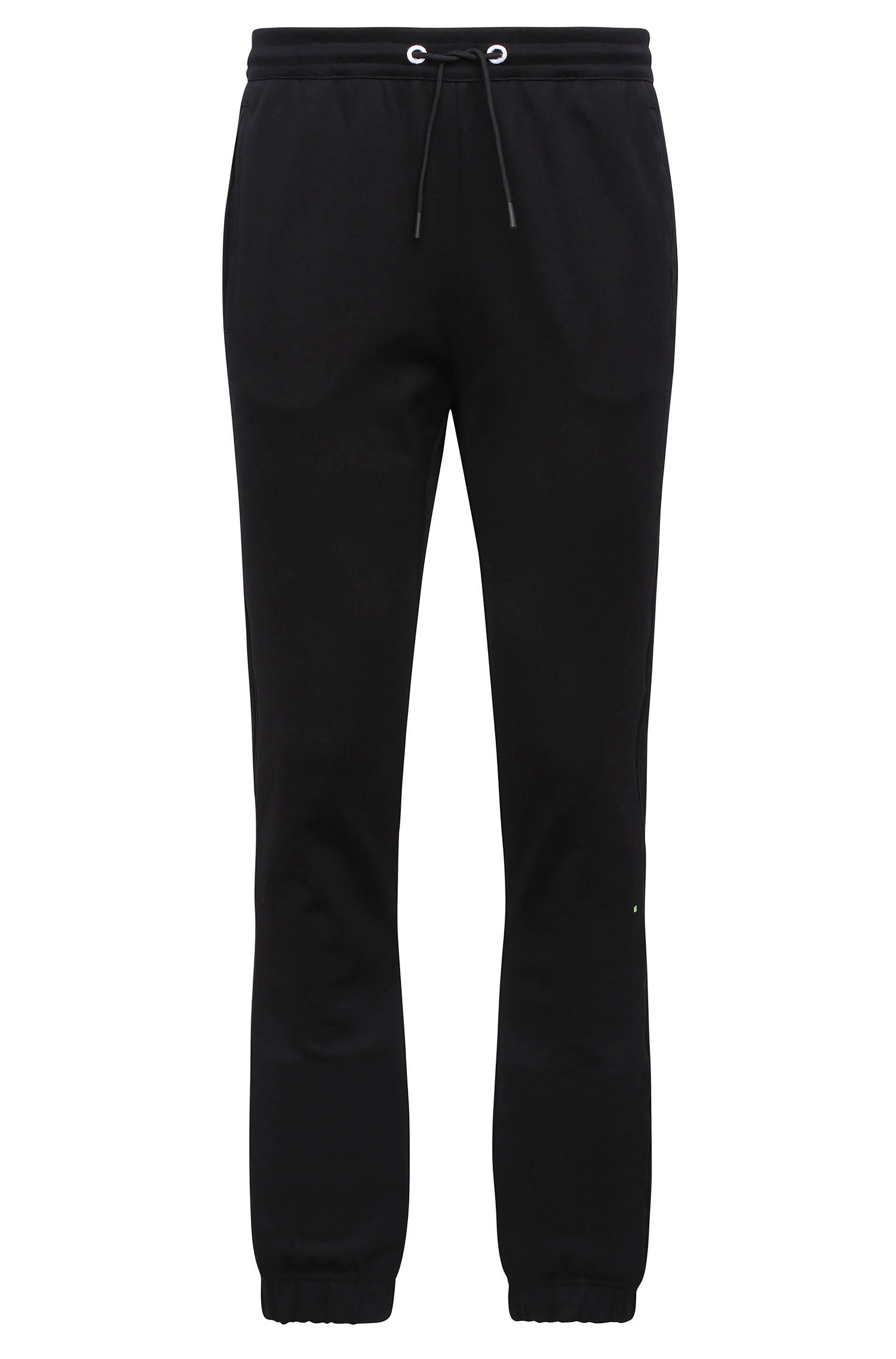 Pantalón de chándal jaspeado regular fit en mezcla de algodón: 'Hadiko'