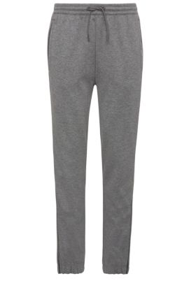Pantalon de jogging Regular Fit en coton mélangé chiné : « Hadiko », Gris