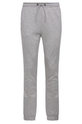 Pantalon de jogging Regular Fit en coton mélangé chiné : « Hadiko », Gris chiné
