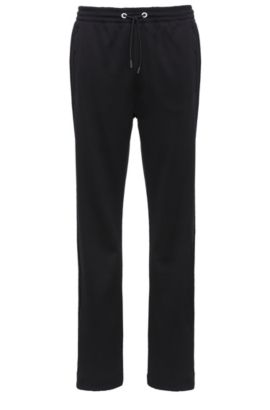 Tracksuit bottoms in cotton blend: 'Hadim', Black