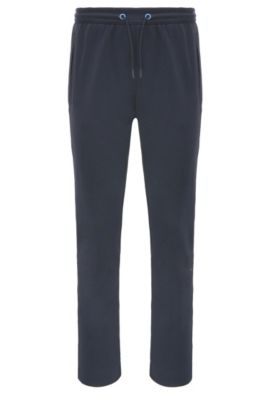 Tracksuit bottoms in cotton blend: 'Hadim', Dark Blue